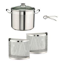 PINTINOX Stainless-Steel Pasta-Pot Cuocapio 8,5 Liters, 5 pieces