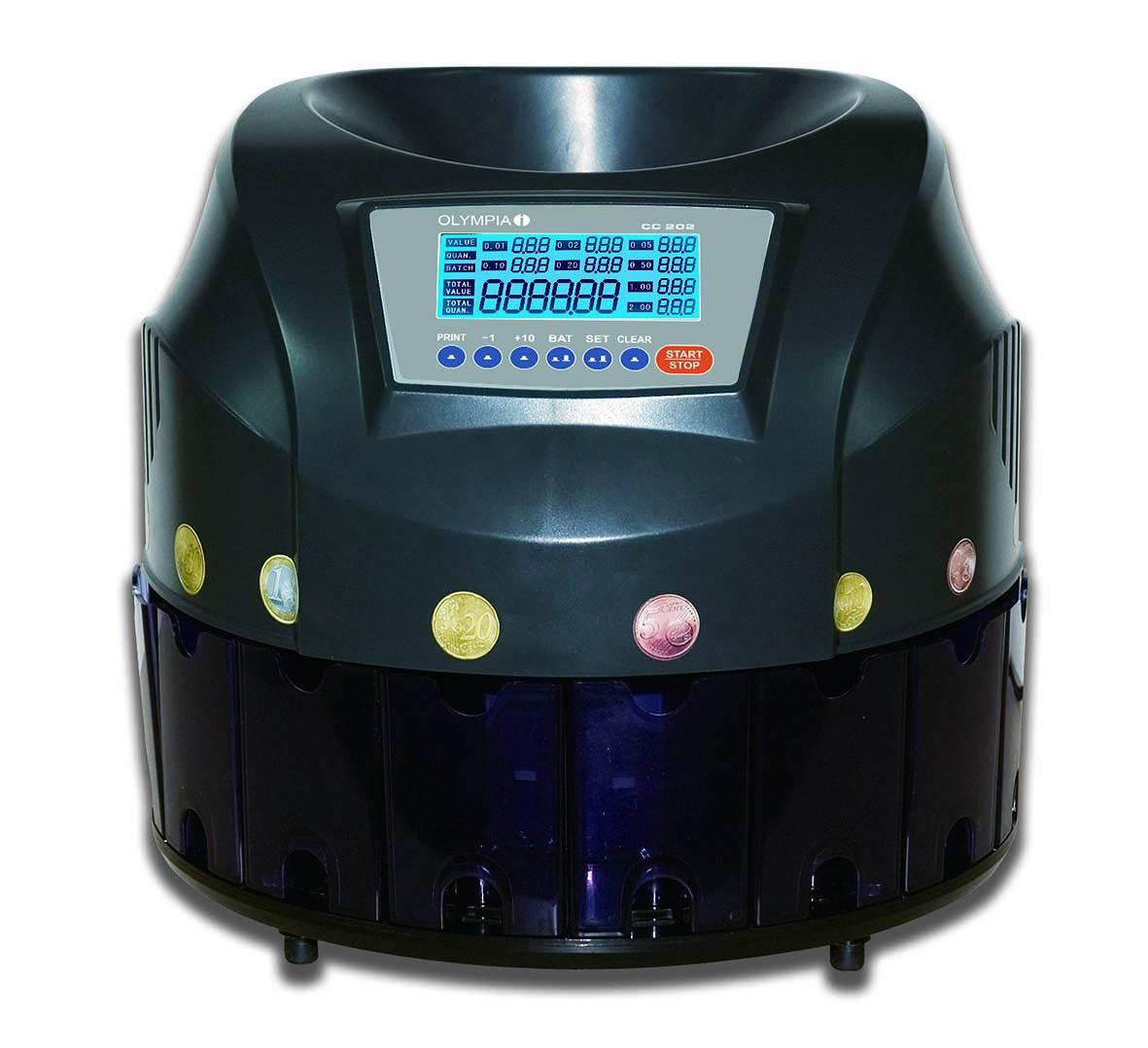Olympia Geldzählmaschine Geldscheinprüfgerät NC 590 mit LC-Display Frontloader