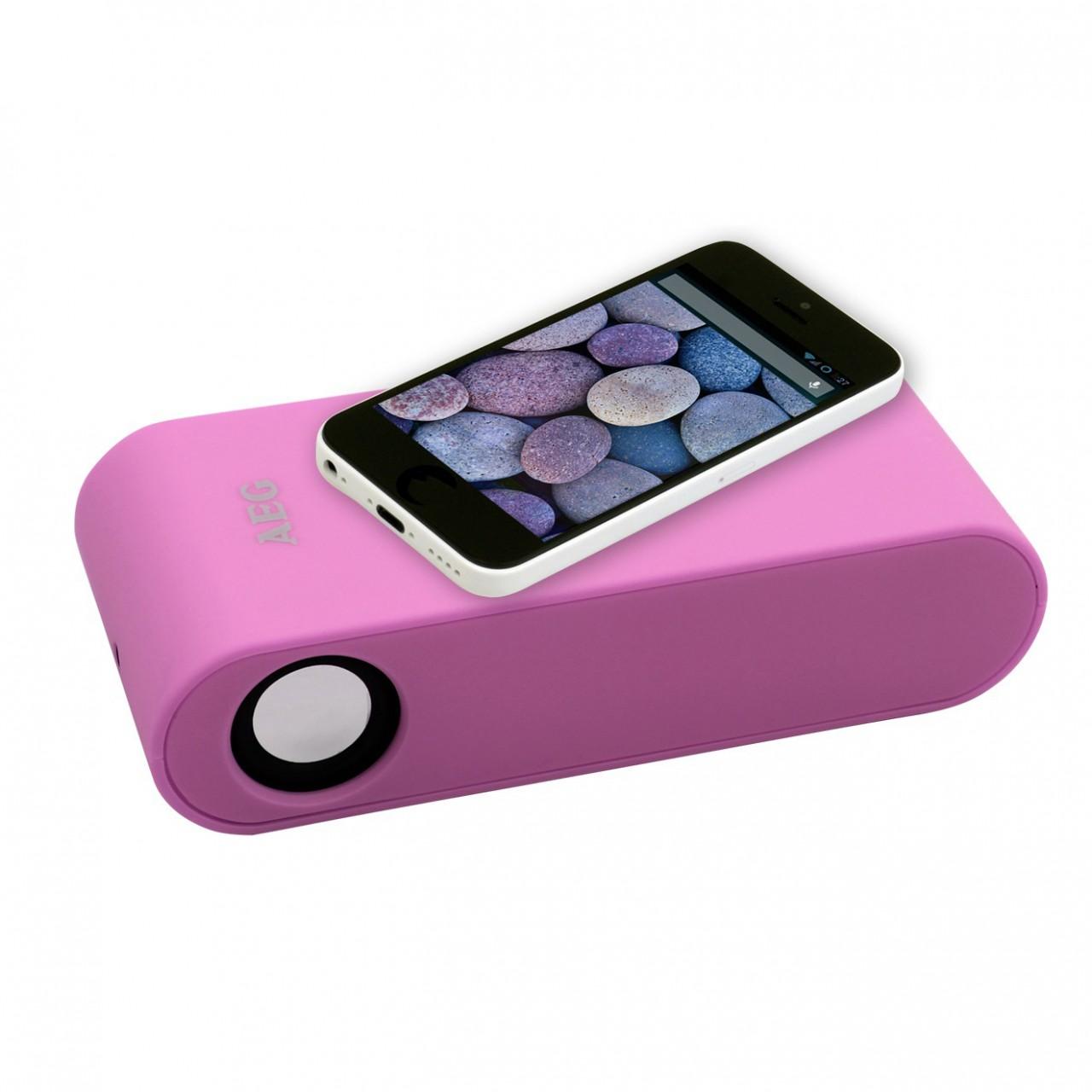 AEG LBI 4719 Wireless Induktions-Lautsprecher in Pink