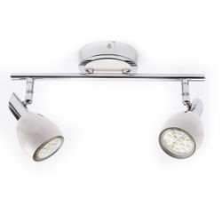 2 Lamps LED Track Chrome White