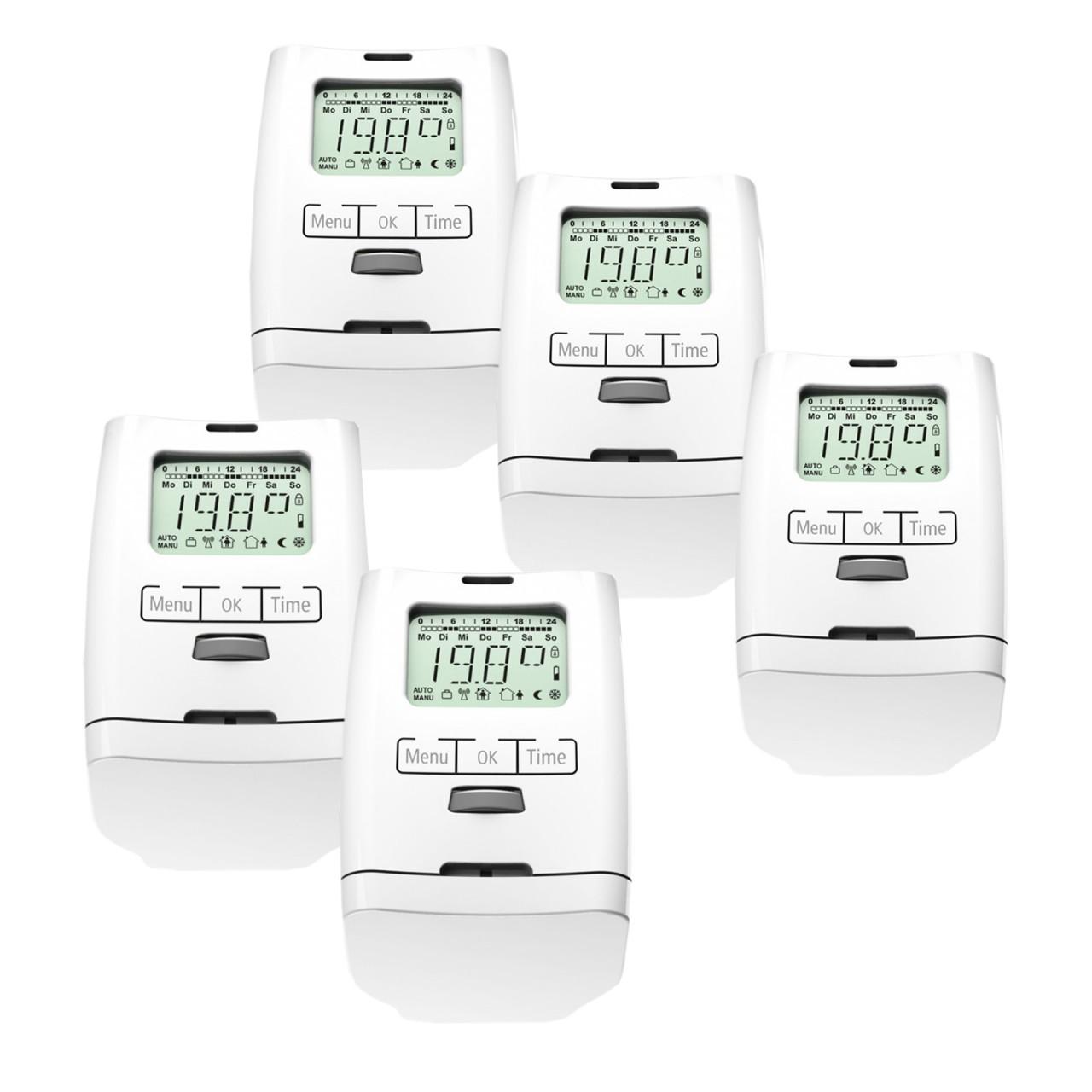 5 Stück HT 2000 Elektronischer Heizkörperthermostat Made in Germany