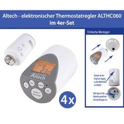 4 Stück Elektronischer Heizkörperthermostat Thermostat Thermostatventil Altech ALTHC060