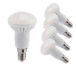 5 Stück OLYMPIA LED R50 E14 470 Lumen, EEK A+ (Spektrum: A++ bis E), 6 W, Warmweiß