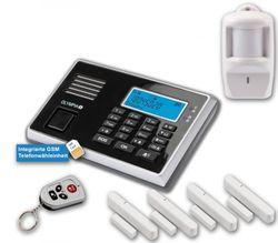 OLYMPIA Protect 9061 Drahtloses GSM Alarmanlagen-Set mit 4 Tür-/Fensterkontakten und Bewegungsmelder