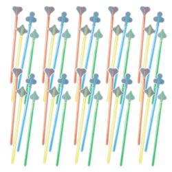 H+H FLS 10205 Glow Light Long Drink Stick Set - 40 pcs., 4 Colours