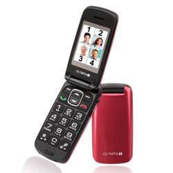 OLYMPIA Classic Mini Senioren Handy, große Tasten, Rot