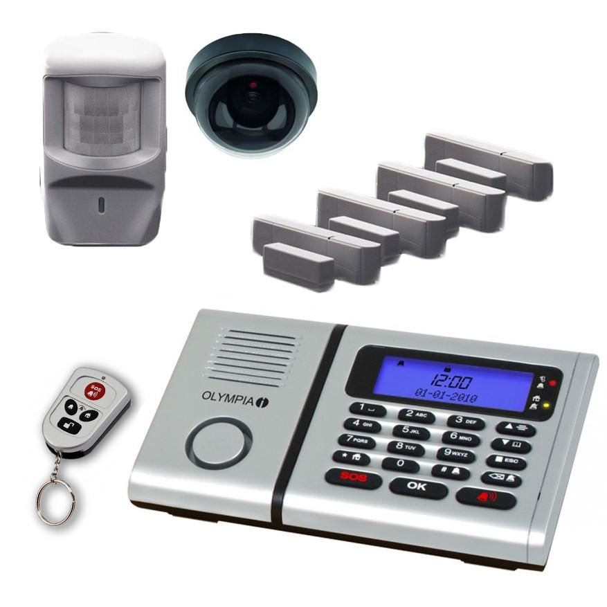 Olympia 6061 syst me d 39 alarme sans fil kit de surveillance Alarme sans fil avec camera