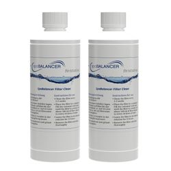 2er-Pack SPABALANCER Filter Clean Classic, 0,5 L