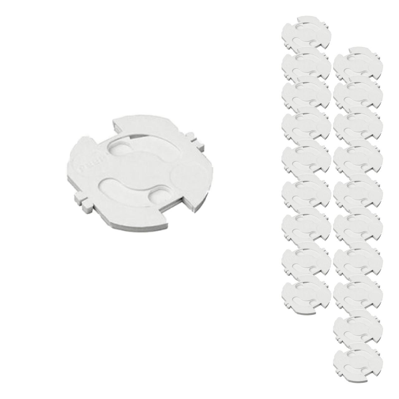 20 Stück H+H KS 10 Steckdosensicherung, Weiß