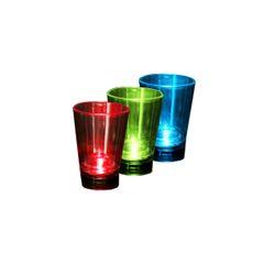 3er Set IOIO LED 92 Schnapsglas, drei verschiedene Farben, 340 ml