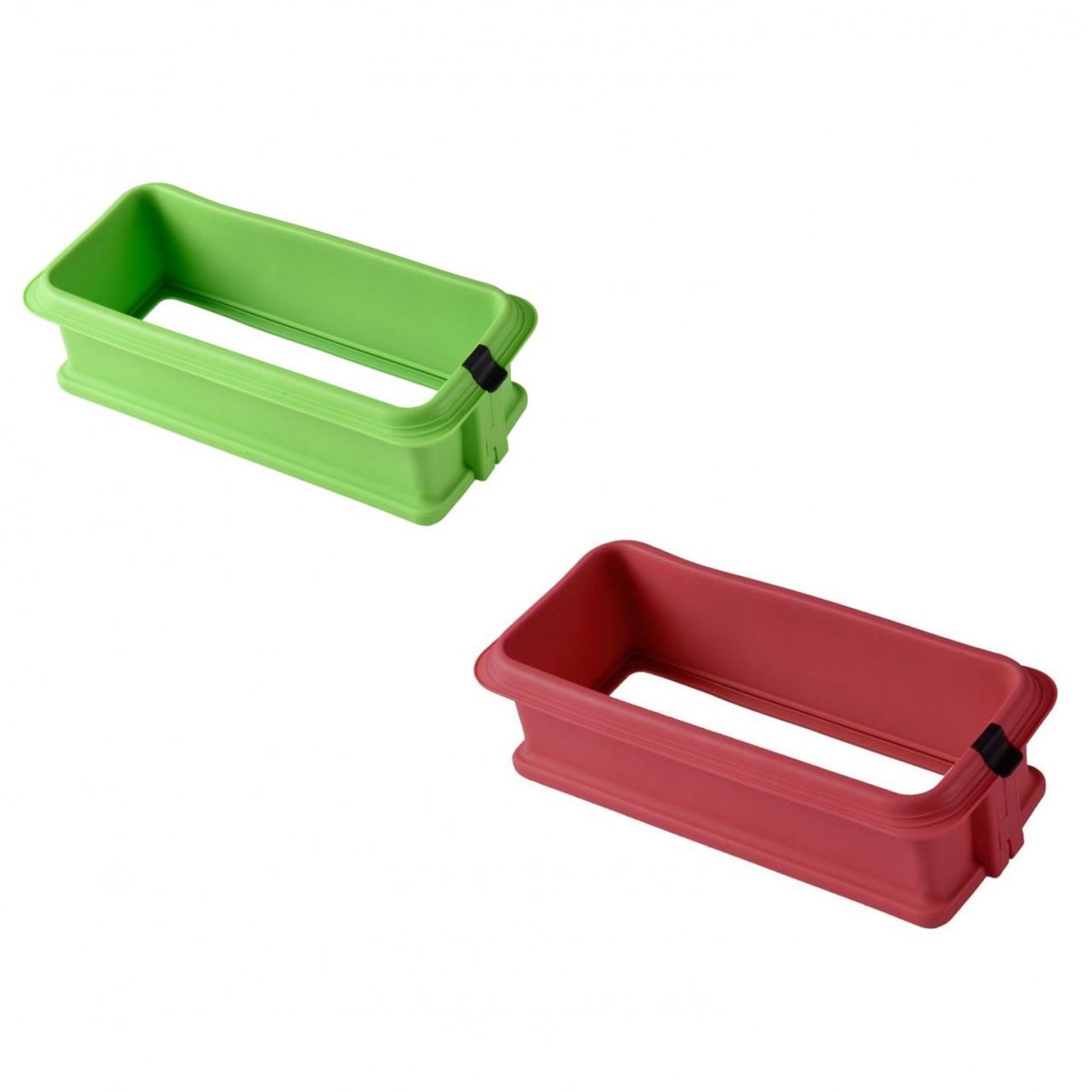Backbleche & -formen Silikonspringform Eckig Mit Glasboden In 2 Farben