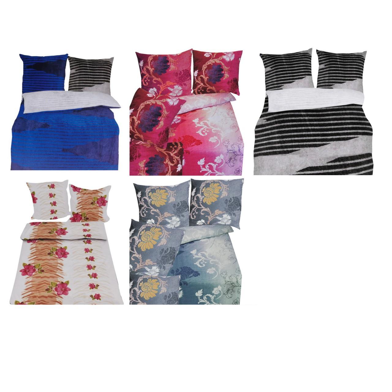 Edle Microfaser Fleece Bettwasche Set 2 Teilig Verschiedene Designs