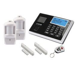 OLYMPIA Alarm system Starter Set with 2 Door window contacts, 2 motion detectors and remote