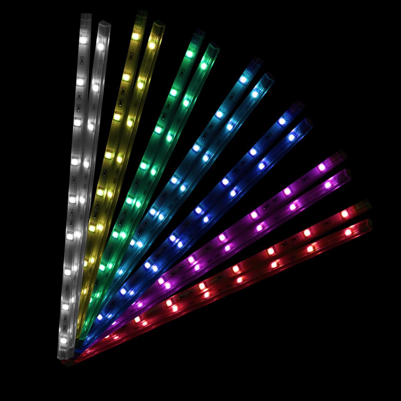 led rgb rainbow set 4 sticks rgb indirekte beleuchtung mit schalter farwechsel ebay. Black Bedroom Furniture Sets. Home Design Ideas