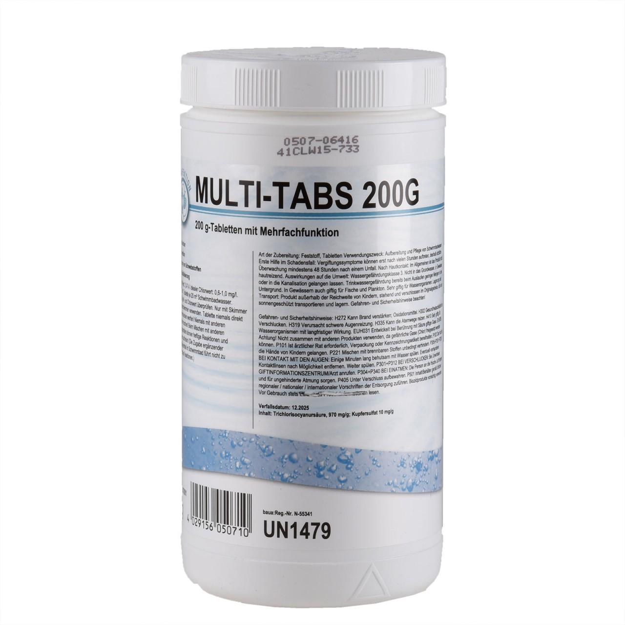 ALWARIN Schwimmbadpflege Multi-Tabs, 1 kg