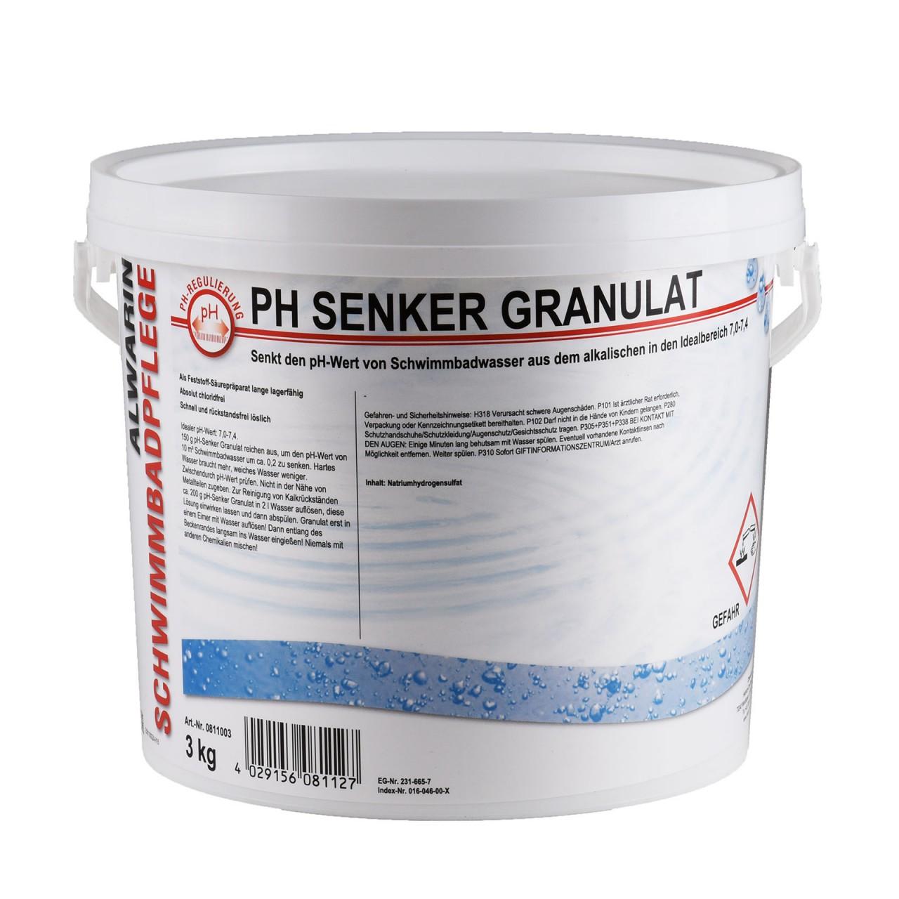 5 33 1kg ph senker ph minus pulver 3 kg made in germany ebay. Black Bedroom Furniture Sets. Home Design Ideas