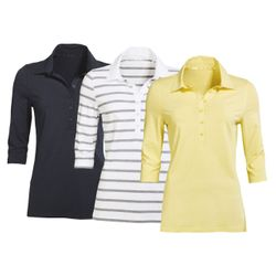 Damen Polo Shirt mit 3/4 Arm