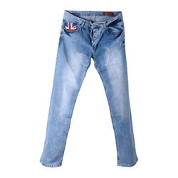 "Modische Herren Jeans ""Stars & Flags Britain"" im Used Look"