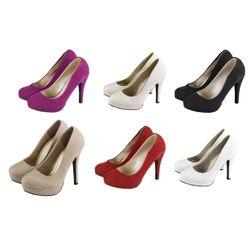 Attractive Court Shoe Pumps in Buckskin Leather Look