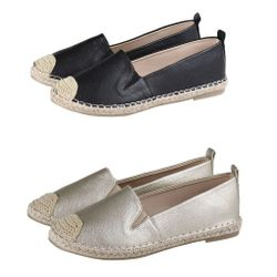 Stylische Espadrilles in Leder Optik