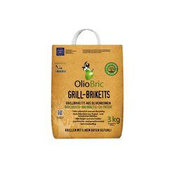 OLIOBRIC Olivenkern Grill-Briketts, 3 kg