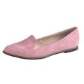 BESTELLE Mary Lyn Damen Slipper in Wildleder Optik, Rose 001