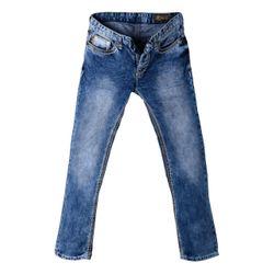 Herren Jeans im Used Look mit Natur-farbenen XL-Nähten