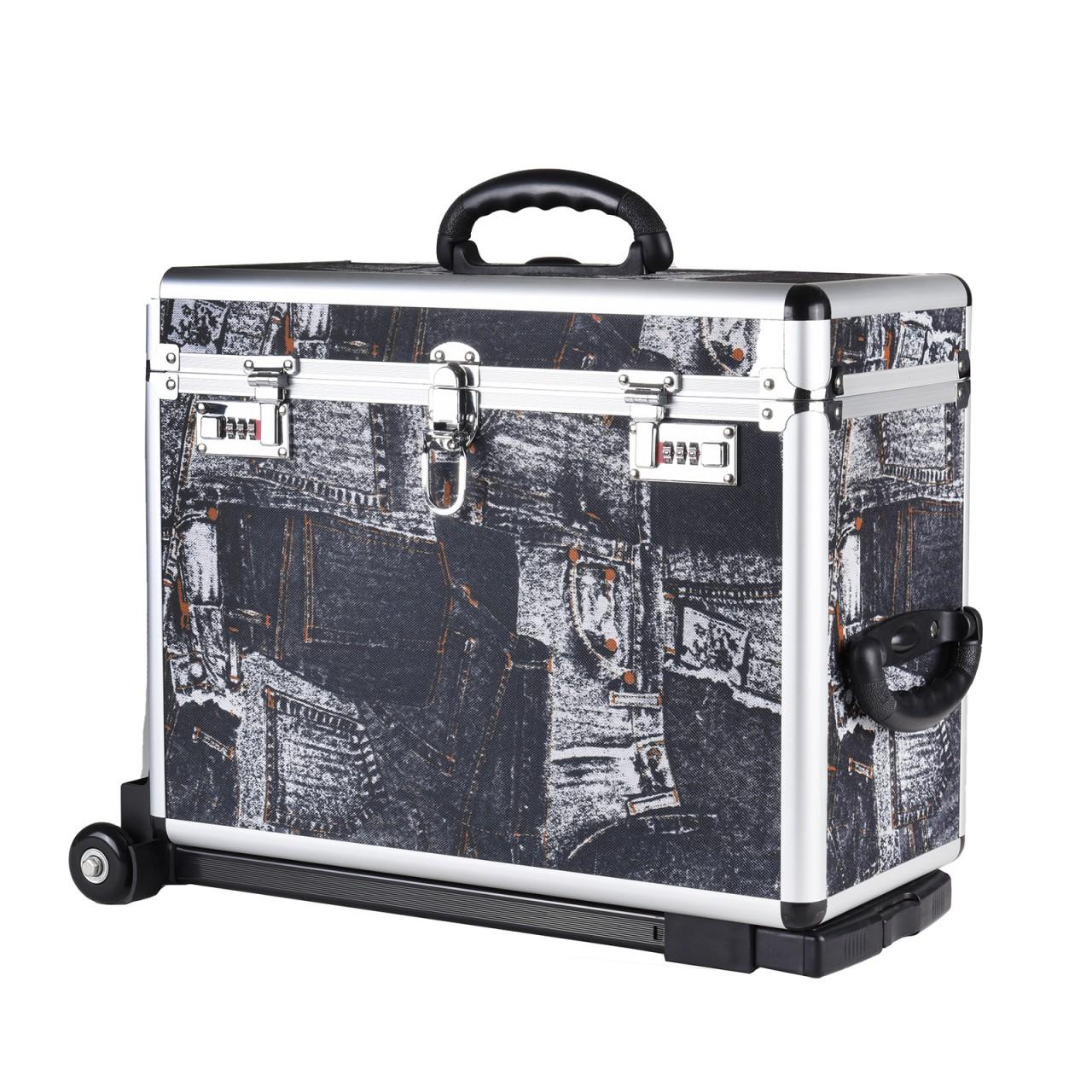 Trolley Pilotkoffer Reisetrolley Handgepäck Geschäftskoffer Mit Jeans-motiv Reisekoffer & -taschen Reisen