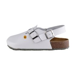 Wellness Comfort Deep Footbed Clogs CHRIS for Men white