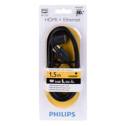 Philips SWV 2422 W/10 HDMI + Ethernet Câble 1,5 m Noir