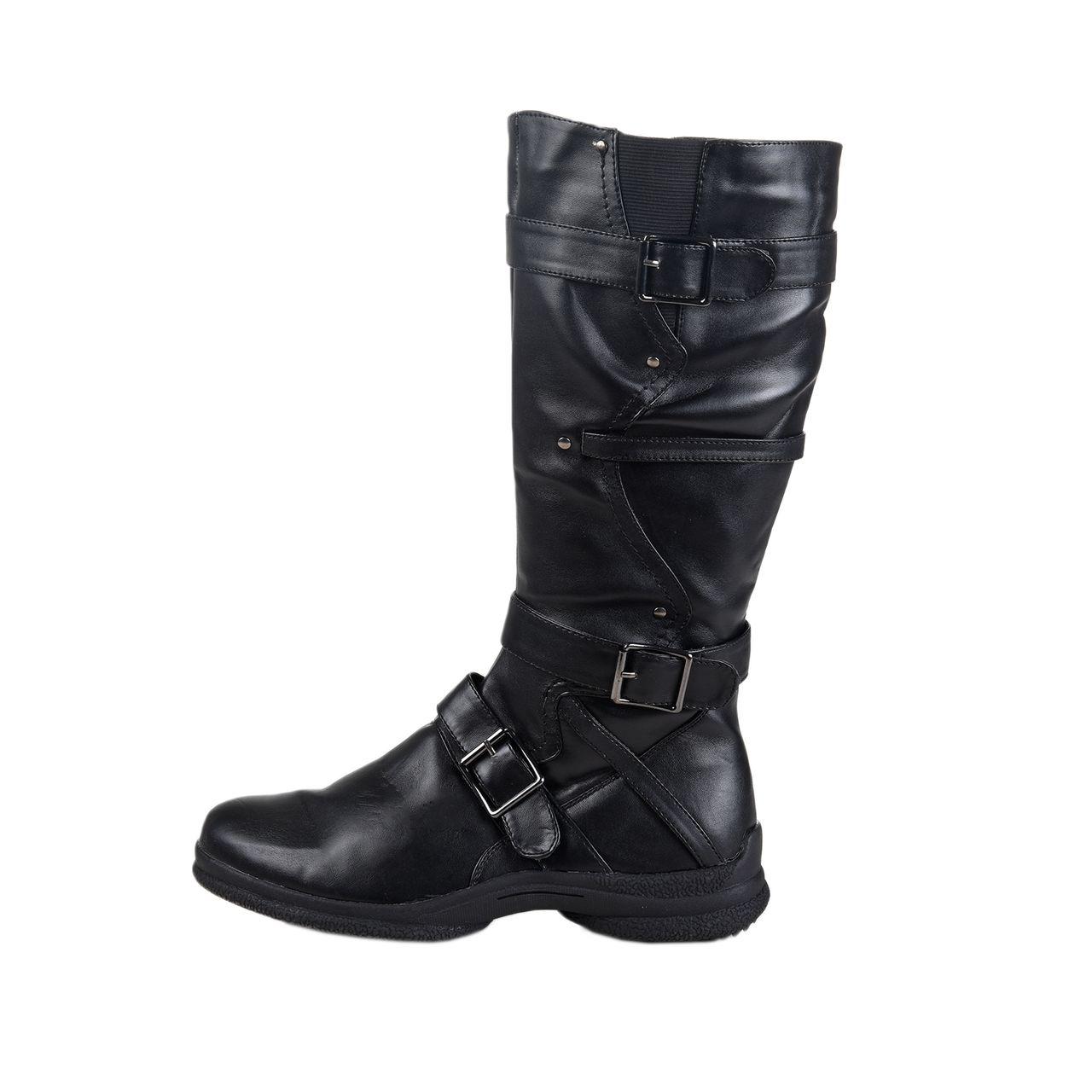 LISANNE COMFORT+ Damen Stiefel schwarz mit 3 Schnallen