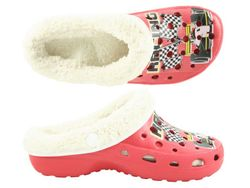 CAMPRELLA Kinder Phylon Clogs mit Warmfutter, Rot/Multi