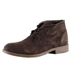 Mario Bucelli Men Real-Leather Boots darkbrown