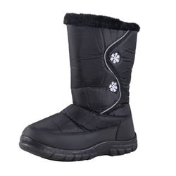 Lisanne Comfort+ Women Thermo Boots black with snowflake