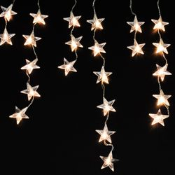 LED Star Fairy Lights Icicle with 40 LEDs for Inside and Outside