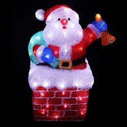 LED Santa Claus Figure Acryl 96 LEDs