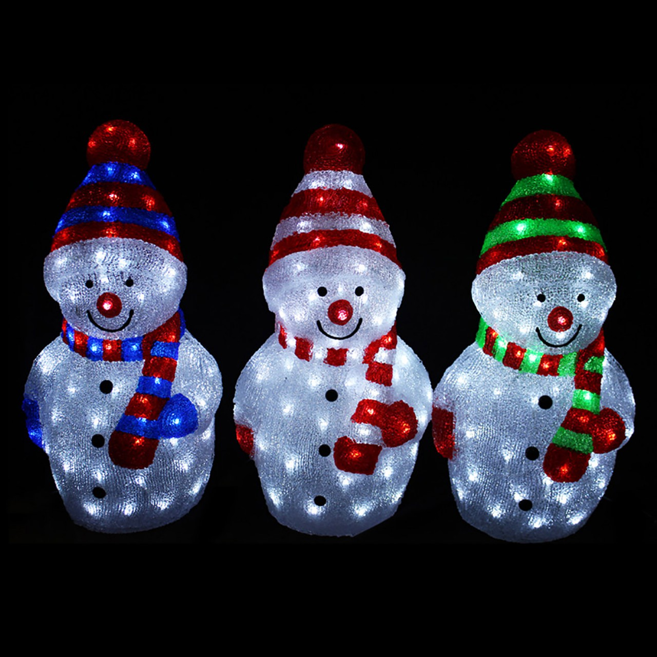 LEX LED Schneemann mit 40 LEDs