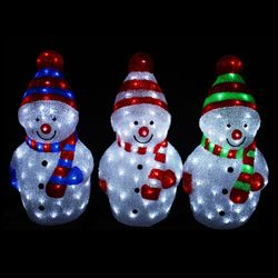 LED Snowman with 40 LEDs