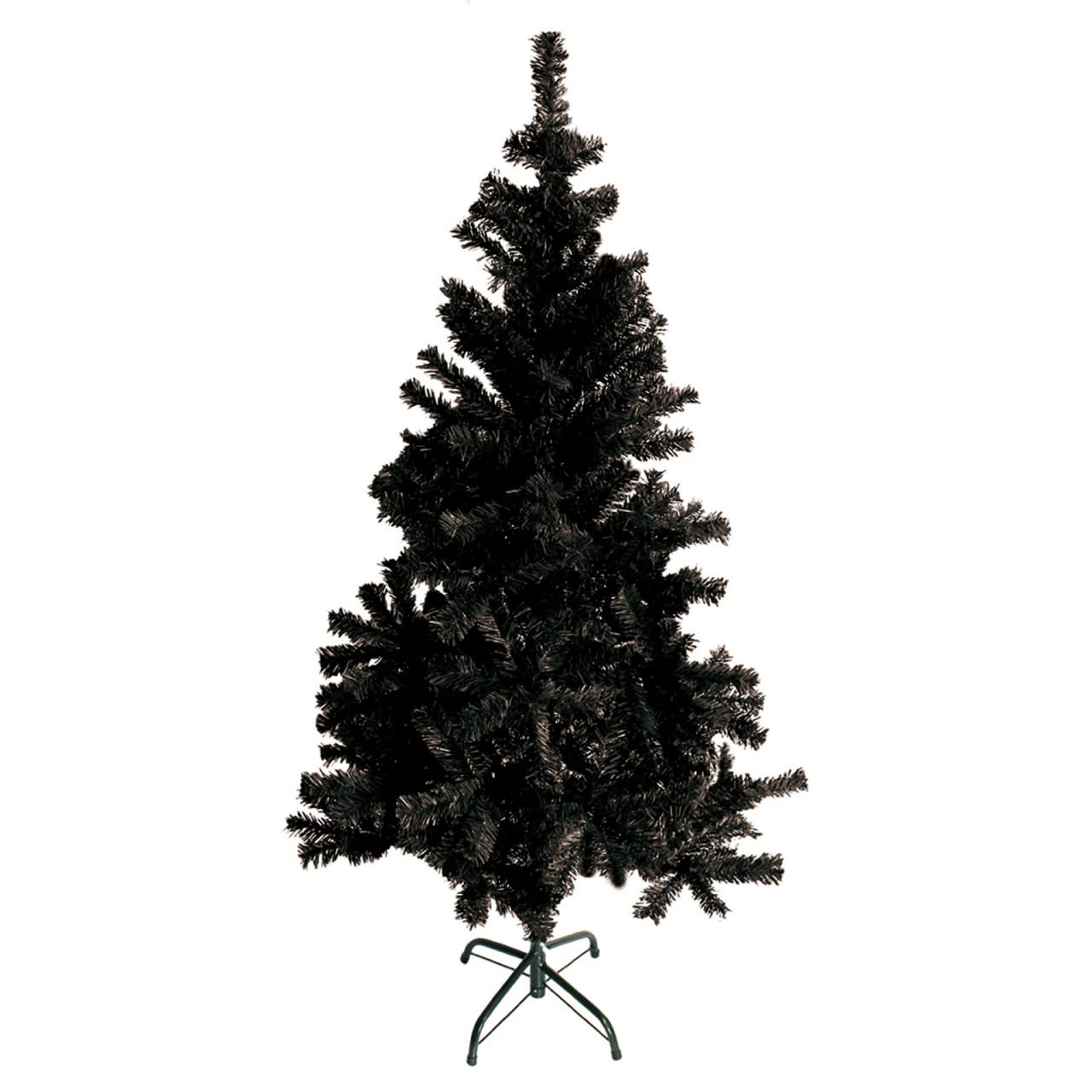 LEX Künstlicher Weihnachtsbaum inkl. Ständer, Farbe Schwarz, 60 cm