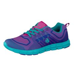 Uncle Sam Ladies Seamless lightweight running shoes in purple / turquoise