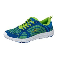 Uncle Sam Men Light Running Shoes Seamless in Blue/Green with green Uncle Sam Print