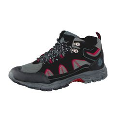 UNCLE SAM Herren Outdoor Boots, Schwarz/Grau/Rot