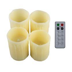 Echtwachskerzen-Set mit 4 Kerzen und Timer Funktion, inkl. Fernbedienung