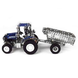 Tronico DIY Metal Kit Micro Series NEW HOLLAND T5-115 tractor with tipper trailer Scale 1:64