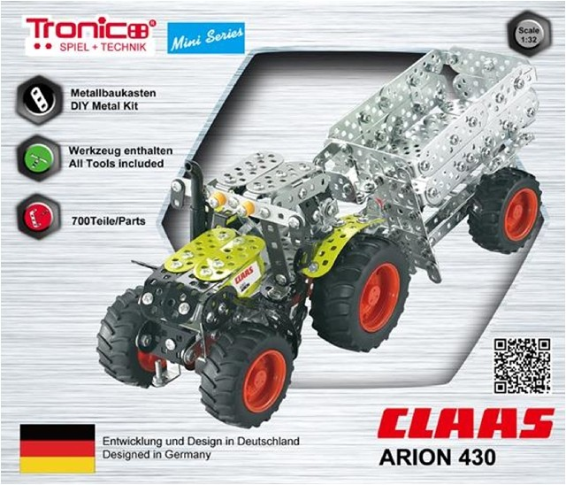 Metal construction tractor with trailer claas arion 430 for Metal craft trailers parts