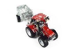 TRONICO Mini Serie CASE IH PUMA 230 CVX Traktor mit Kippanhänger Metallbaukasten Maßstab 1:32