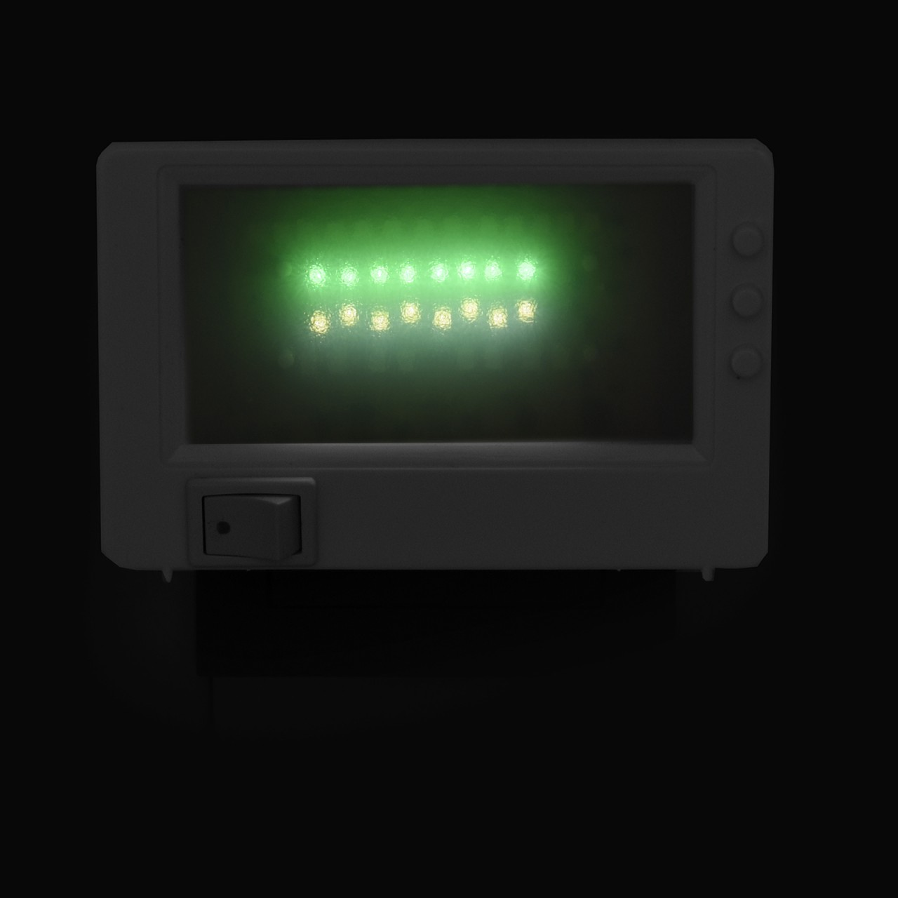 led tv simulator kompakt 37 leds fernseh attrappe dummy einbruchschutz fake tv ebay. Black Bedroom Furniture Sets. Home Design Ideas