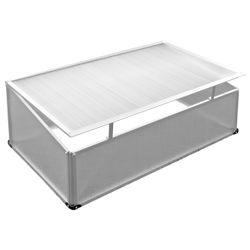 LEX Frühbeet, Aluminium-Rahmen, PC-Scheiben, 120 x 80 x 30/40cm