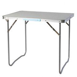 LEX picknick table with handle, aluminium frame, MDF tabletop, 80 x 60 x 66,5 cm