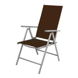 LEX Folding armchair 7-positions, chocolate-brown